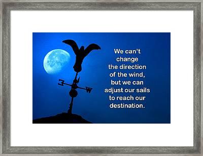 Adjust Our Sails Framed Print by Mike Flynn