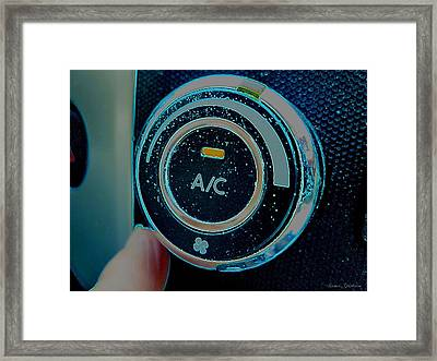 Adjusting The Air Conditioning Framed Print