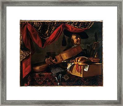 Adler Salomon, Baschenis Evaristo Framed Print by Everett
