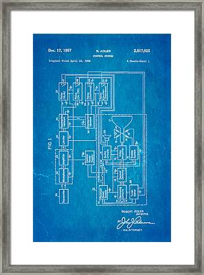 Adler tv remote control patent art 1957 blueprint photograph by adler tv remote control patent art 1957 blueprint framed print by ian monk malvernweather Image collections