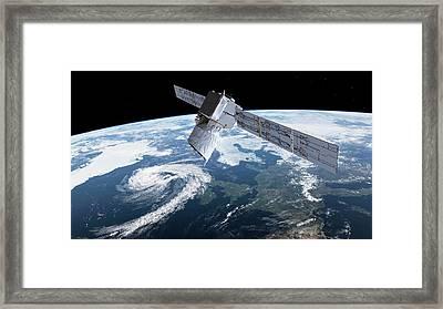 Adm-aeolus Satellite Framed Print by European Space Agency/atg Medialab