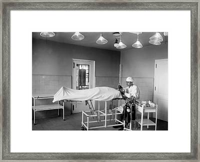 Administering Anesthesia 1922  Framed Print by Mountain Dreams