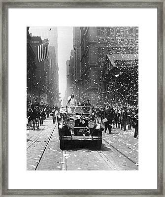 Admiral Byrd Nyc Parade Framed Print by Underwood Archives