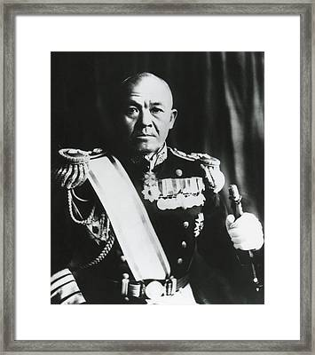 Admiral Chuichi Nagumo, Of The Japanese Framed Print