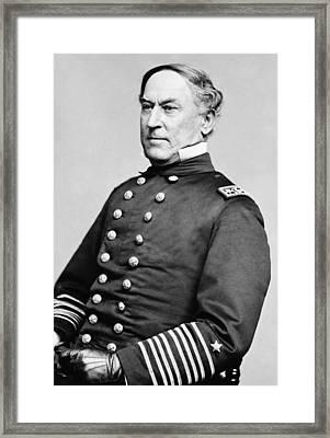Admiral David Farragut Framed Print by War Is Hell Store