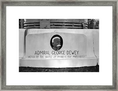 Admiral Dewey Monument Framed Print by David Lee Thompson