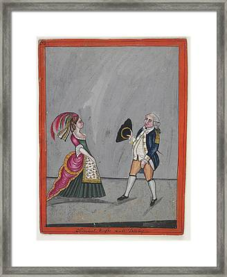 Admiral Hughes And Mrs. Oakeley Framed Print by British Library