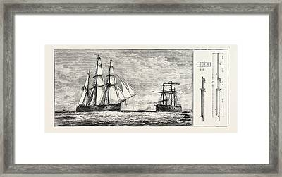 Admiral Schombergs Proposed New Rig For Men-of-war Framed Print