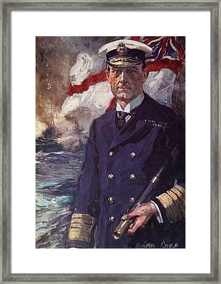 Admiral Sir John Jellicoe Framed Print by Cyrus Cuneo