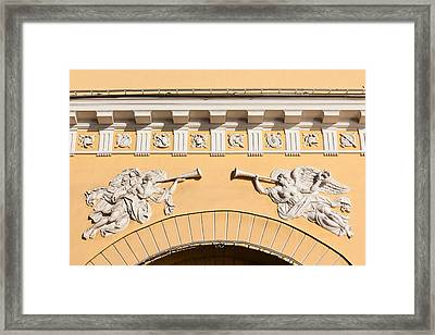 Admiralty Building Detail, St Framed Print