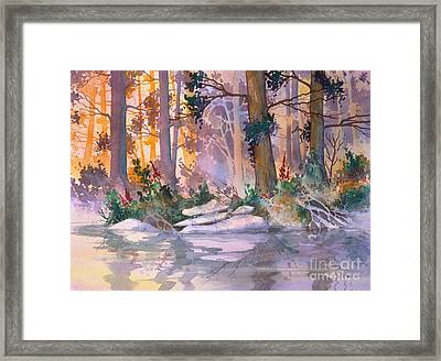 Admiralty Forest For Fran Framed Print by Teresa Ascone