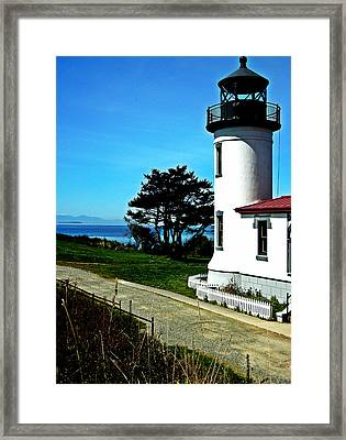Admiralty Head Lighthouse View  Framed Print