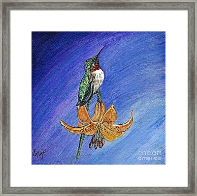 Framed Print featuring the painting Admiration by Ella Kaye Dickey