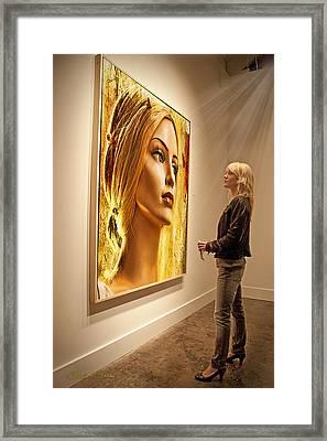 Admiring Beauty Framed Print