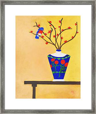 Admiring Bird Framed Print