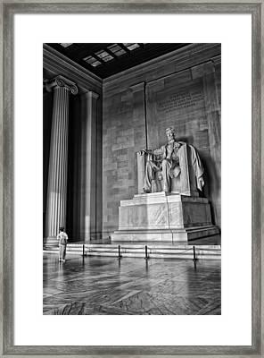 Admiring Lincoln Framed Print