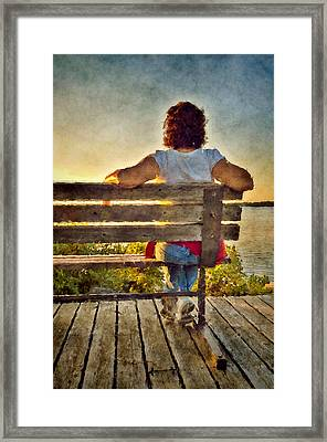 Admiring Sunset Framed Print