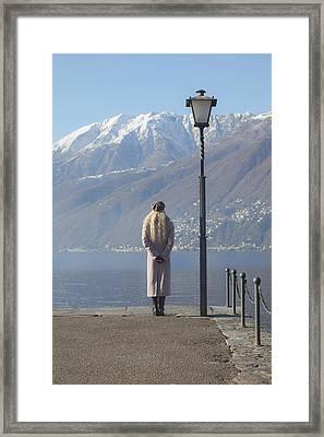 Admiring The Mountains Framed Print by Joana Kruse