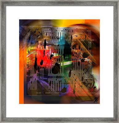 Admixture - Black V01 Framed Print