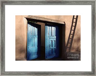 Adobe Blues Framed Print by Gina Savage