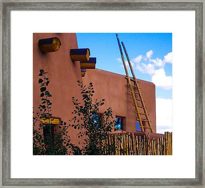 Adobe Building In Nm Framed Print