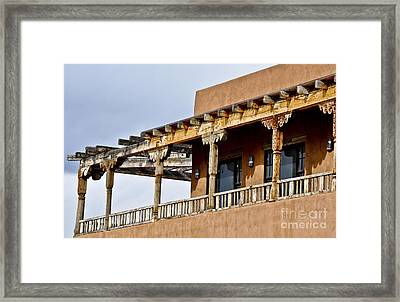 Framed Print featuring the photograph Adobe Charm by Gina Savage