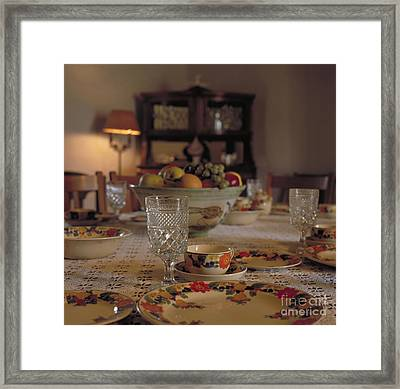 Adobe Dining Table Framed Print