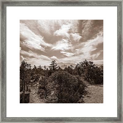 Adobe Jack Trail Bw Framed Print by Chris Bordeleau