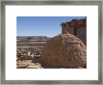 Adobe Oven Framed Print by Jennifer Nelson