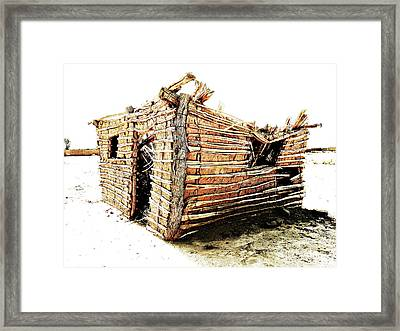 Adobe Shack 2 Framed Print by Lin Haring