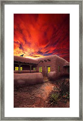 Adobe Sunset Framed Print by Ric Soulen