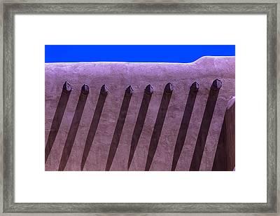 Adobe Wall Shadows Framed Print by Garry Gay