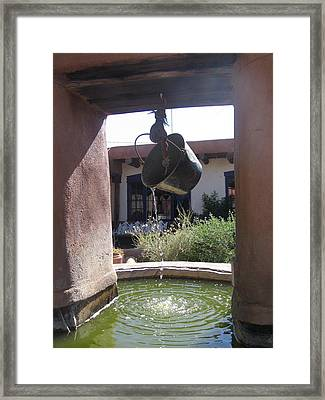 Framed Print featuring the photograph Adobe Water Well In New Mexico by Dora Sofia Caputo Photographic Art and Design