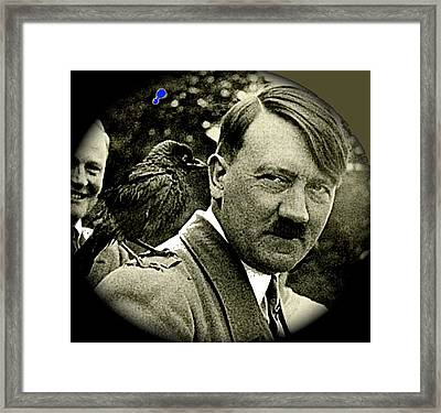 Adolf Hitler And A Feathered Friend C.1941-2008 Framed Print by David Lee Guss