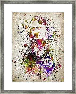 Adolf Hitler In Color Framed Print by Aged Pixel