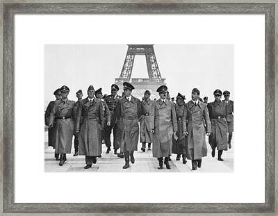 Adolf Hitler Touring Conquered Paris Framed Print by Everett