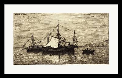 Coasting Drawings Framed Prints