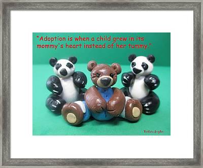 Adoption Is Framed Print by Barbara Snyder