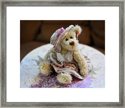 Adorable Little Teddy Bear Framed Print