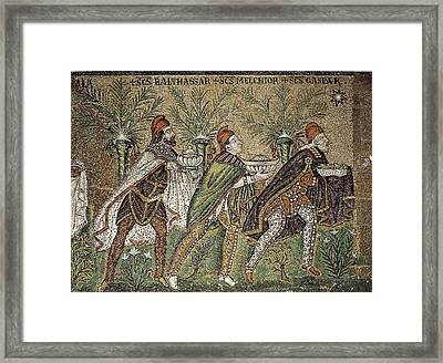 Adoration Of The Kings. 6th C. Italy Framed Print