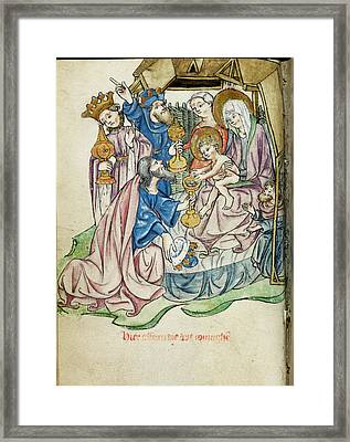 Adoration Of The Magi Framed Print by British Library