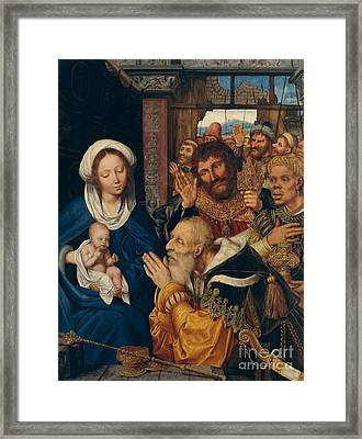 Adoration Of The Magi By Quentin Metsys Framed Print by MMA John Stewart Kennedy Fund