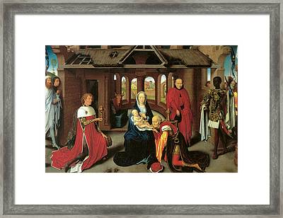 Adoration Of The Magi Framed Print by Hans Memling