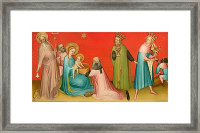 Adoration Of The Magi With Saint Anthony Framed Print by Mountain Dreams