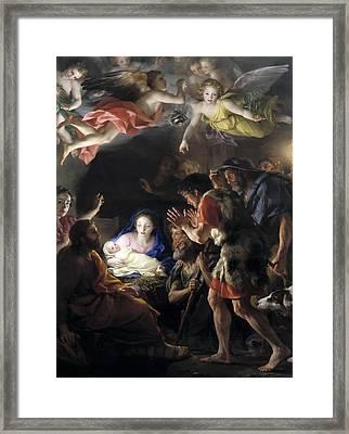 Adoration Of The Shepherds Framed Print