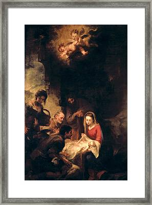 Adoration Of The Shepherds Framed Print by Bartolome Esteban Murillo