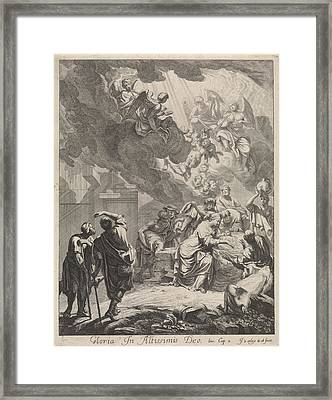Adoration Of The Shepherds, Jan Van Orley Framed Print