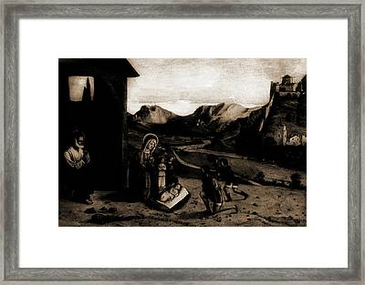 Adoration Of The Shepherds, Jesus Christ, Mary, Blessed Framed Print by Litz Collection