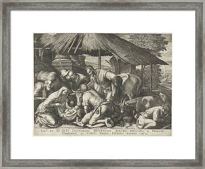 Adoration Of The Shepherds With Sleeping Shepherd Boy Framed Print