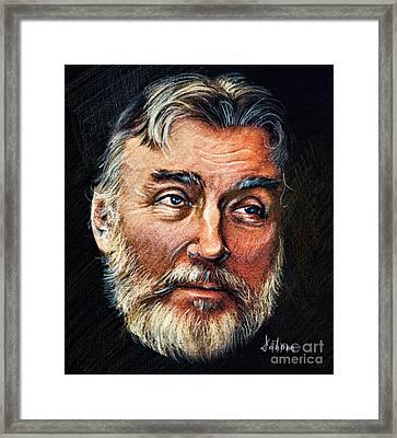 Adrian Paunescu -portrait Framed Print by Daliana Pacuraru
